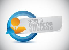 secret to success avatar cycle sign concept - stock illustration