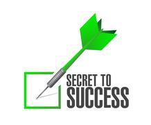 secret to success approval dart sign concept - stock illustration