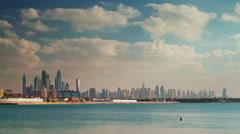 Summer day dubai marina downtown palm panorama 4k time lapse uae Stock Footage