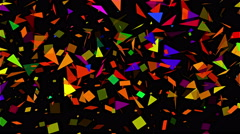 Stock Video Footage of Sparse Multi Colored Abstract Mosaic Background Loop