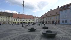 The Large Square of Sibiu in the afternoon Stock Footage