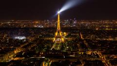 City view with the Eiffel Tower in the distance, Paris, France - Time lapse - stock footage
