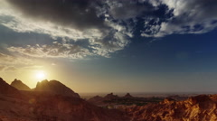 Dubai sunset abu dhabi al ain mountain panorama 4k time lapse uae Stock Footage