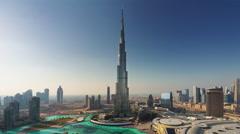 Summer day dubai world highest building hotel panorama 4k time lapse uae Stock Footage