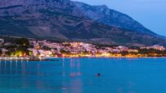 Croatia. Baska voda town (Makarska riviera) Stock Footage