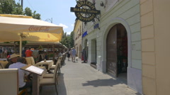 Unicum Baum Cafee and other restaurants in Sibiu - stock footage