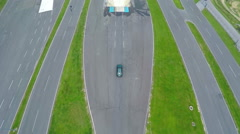 Training of driving from air Stock Footage
