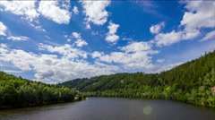 Tepla river Czech Republic  timelapse. Stock Footage