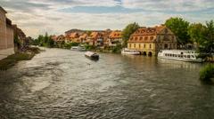 Bamberg, Bavaria, Germany. 4k timelapse. Stock Footage