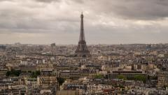 Eiffel Tower, Paris, France, Europe - Time lapse Stock Footage