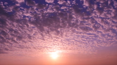 Colored sunset sky Stock Footage