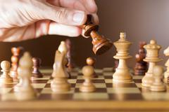 photography of the movement of the king,t on the board - stock photo