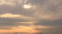 Nebulosity twilight sky Stock Footage