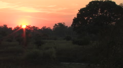African Sunrise in a rural village near  Kitwe, Zambia - stock footage