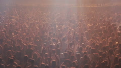 Crowd clapping at concert Stock Footage
