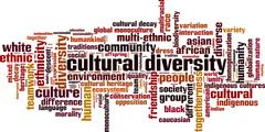 Cultural diversity word cloud - stock illustration