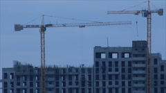 High-rise building site Stock Footage