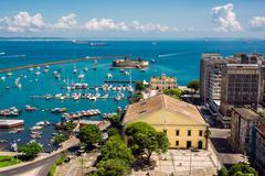 View of All Saints Bay (Baia de Todos os Santos) in Salvador, Bahia, Brazil - stock photo