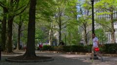 Summer day philadelphia city rittenhouse square 4k pennsylvania usa Stock Footage
