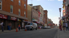 Summer day philadelphia china town street life 4k pennsylvania usa Arkistovideo