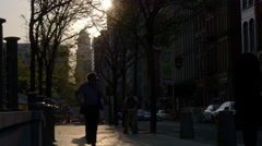 Summer day sunset philadelphia city street life 4k pennsylvania usa Stock Footage