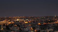 Panning shot of Sunrise time-lapse from the BYU Jerusalem center. Arkistovideo