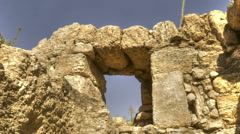 Low-angle time lapse of ruins. Cropped. Stock Footage