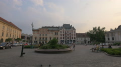 Relaxing in Szczepanski Square, Krakow Stock Footage
