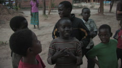 Cute African Kids in Kitwe, Zambia - stock footage