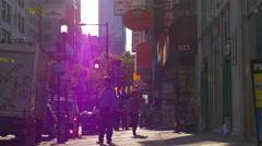 Summer sunset light philadelphia walking street life 4k pennsylvania usa Arkistovideo