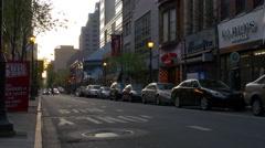 Summer day sunset philadelphia city street panorama 4k pennsylvania usa Stock Footage