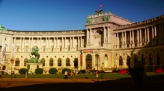 ULTRA HD 4K real time shot,The Hofburg palace in Vienna, Austria Stock Footage