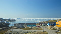 Time Lapse Drifting Ice Floes Environmental Climate Change Eco Tourism Greenland Stock Footage