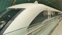 Shanghai Maglev station Stock Footage