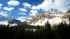 Time Lapse Blue Sky Clouds Landscape Mountains Snow Blue Water Lakes Stock Footage