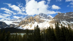 Outdoor Travel Destination Icefields Parkway Time Lapse Wilderness Landscape Stock Footage