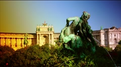 Stock Video Footage of ULTRA HD 4K real time shot,The Hofburg palace in Vienna, Austria