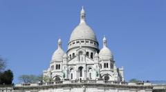 Sacre Coeur, Montmartre, Paris, France, Europe Stock Footage