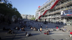 Paris, France, the Centre Georges Pompidou, Beaubourg-Les Halles Stock Footage