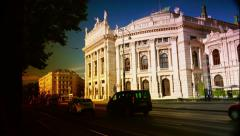 ULTRA HD 4K real time shot,Famous Wiener Ringstrasse with historic Burgtheater Stock Footage