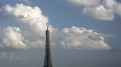Eiffel Tower, Paris, France, Europe - stock footage
