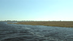 Boating in the Chobe National Park BOTSWANA Stock Footage