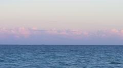 Sunset miami beach ocean panorama 4k florida usa Stock Footage