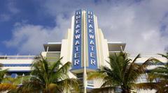 Stock Video Footage of Art deco district, Ocean Drive, South Beach, Miami Beach, Miami, Florida, USA