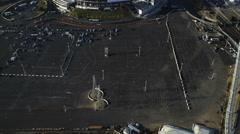 Aerial Raiders American Football Stadium San Francisco USA Stock Footage
