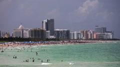South Beach, Miami Beach, Gold Coast, Miami, Florida, USA Stock Footage