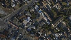 Aerial residential suburbs roads California San Francisco USA Stock Footage
