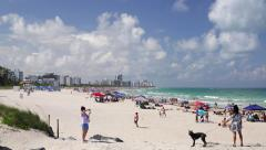 South Beach, Miami Beach, Gold Coast, Miami, Florida, USA - stock footage