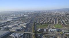 Aerial suburban Highway San Francisco USA - stock footage