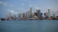 Downtown Miami skyline, Miami, Florida, USA, North America Stock Footage